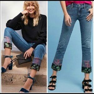 Pilcro Letterpress Slim Boyfriend Crop Jeans